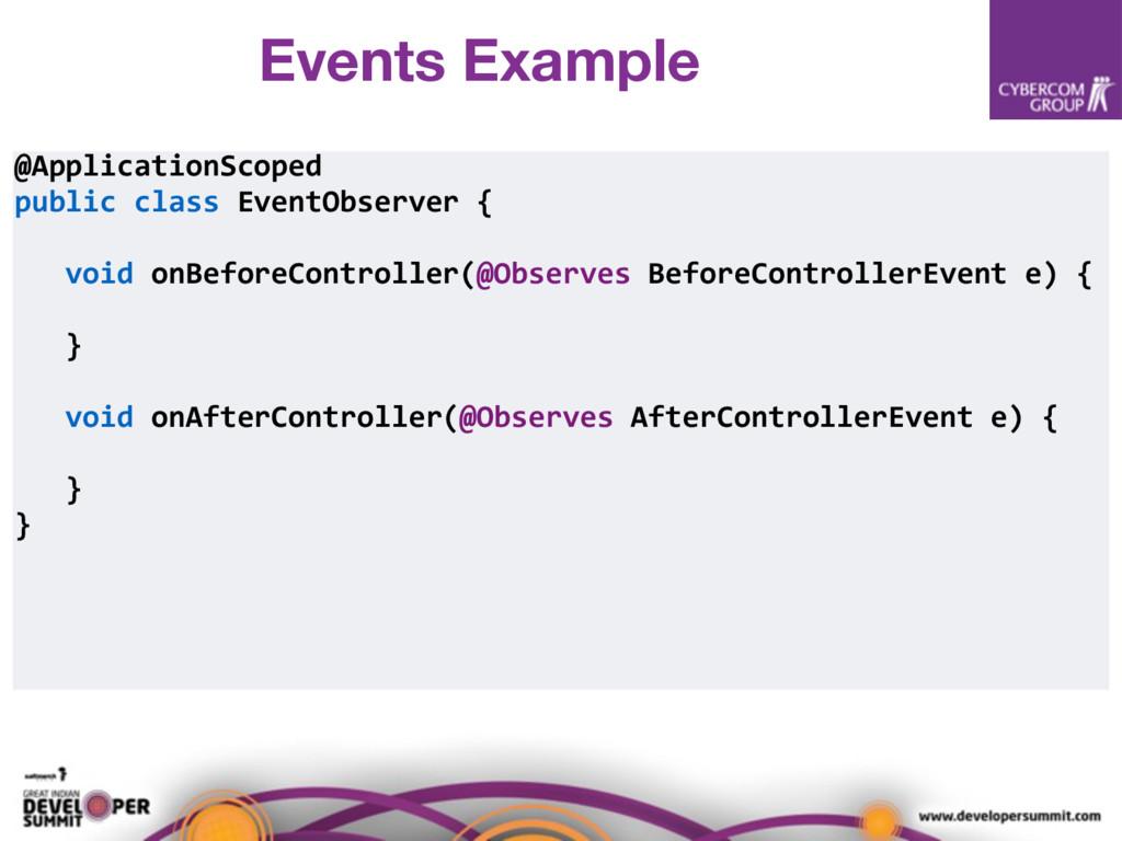 @ApplicationScoped public class EventObserver {...