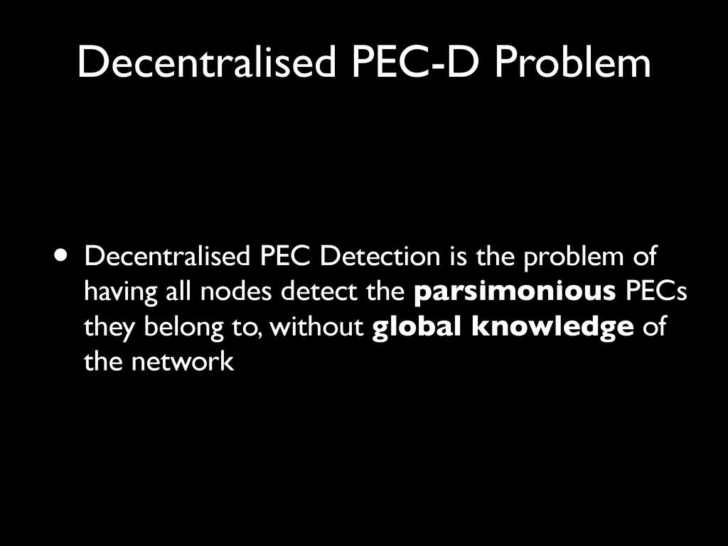 Decentralised PEC-D Problem • Decentralised PEC...