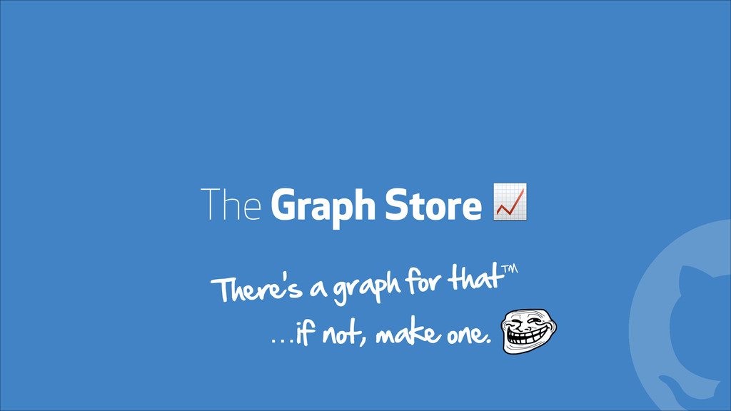 The Graph Store ! ! There's a graph for that™ …...