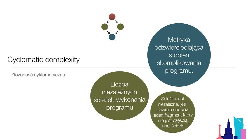 Cyclomatic complexity Złożoność cyklomatyczna M...