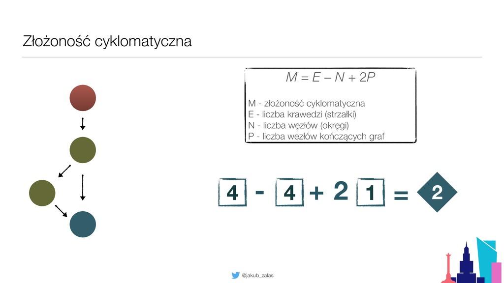 @jakub_zalas Złożoność cyklomatyczna 2 M = E − ...
