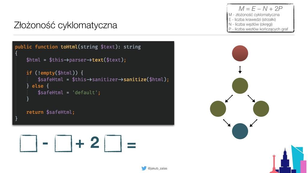 @jakub_zalas Złożoność cyklomatyczna M = E − N ...