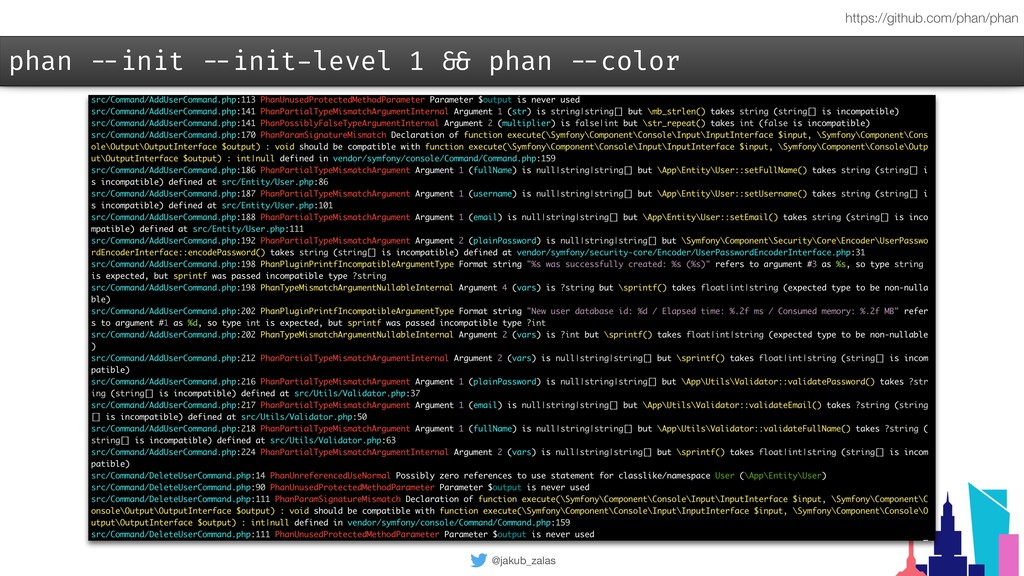 @jakub_zalas phan --init --init-level 1 && phan...