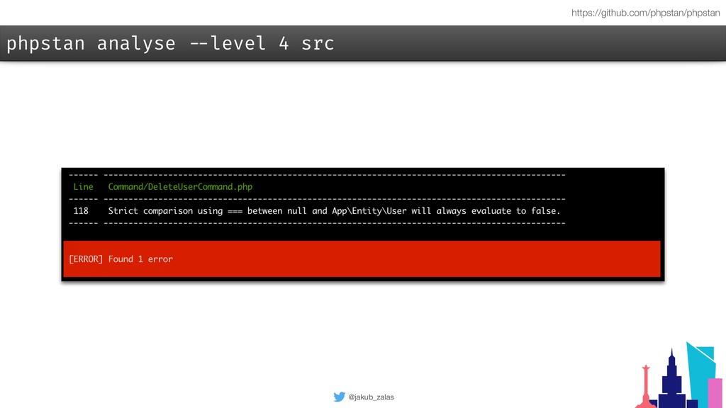 @jakub_zalas phpstan analyse --level 4 src http...