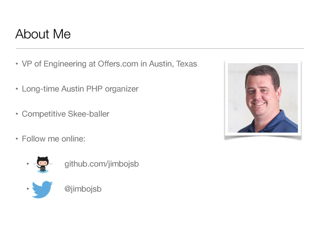 About Me • VP of Engineering at Offers.com in Au...