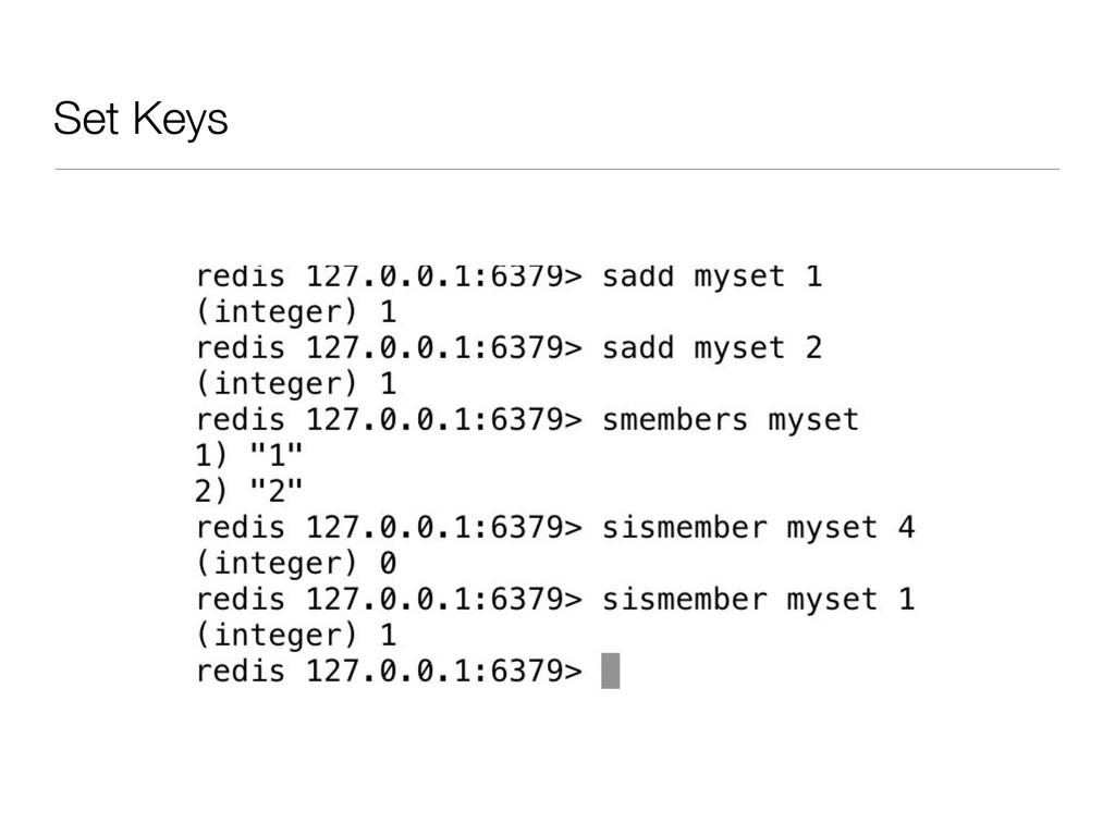 Set Keys