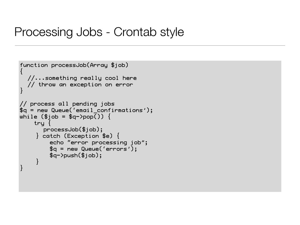 Processing Jobs - Crontab style function proces...