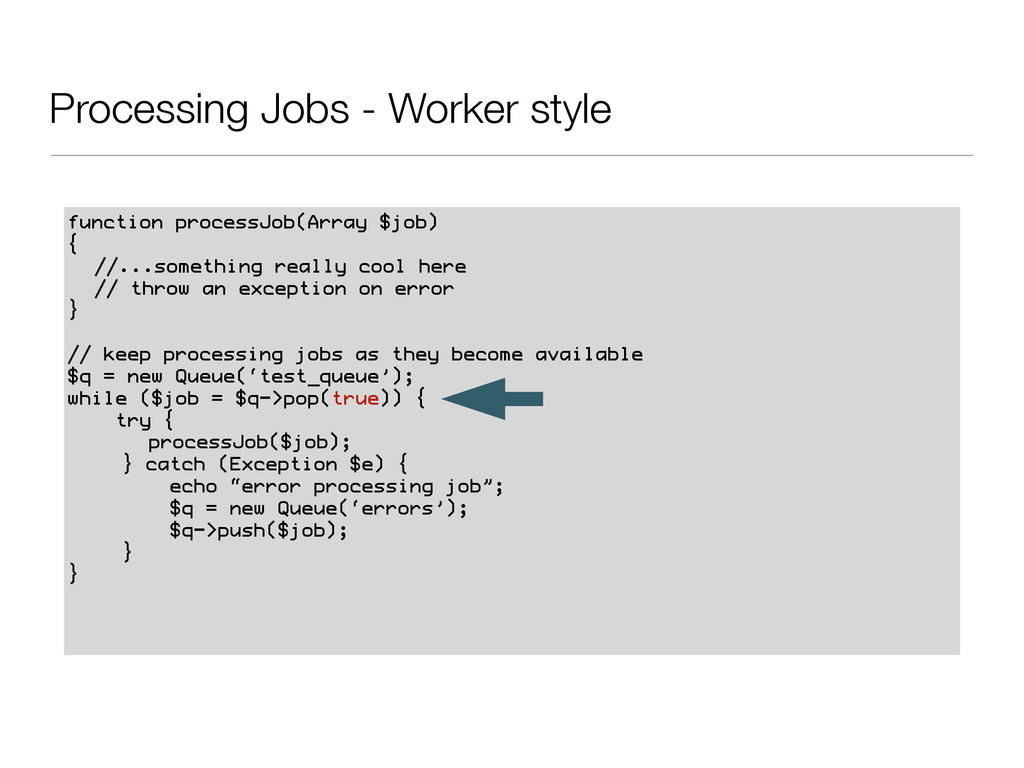 Processing Jobs - Worker style function process...