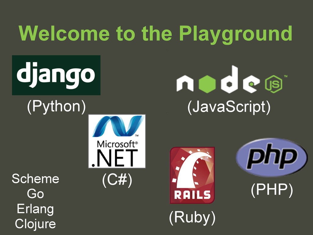 Welcome to the Playground (Ruby) (Python) Schem...