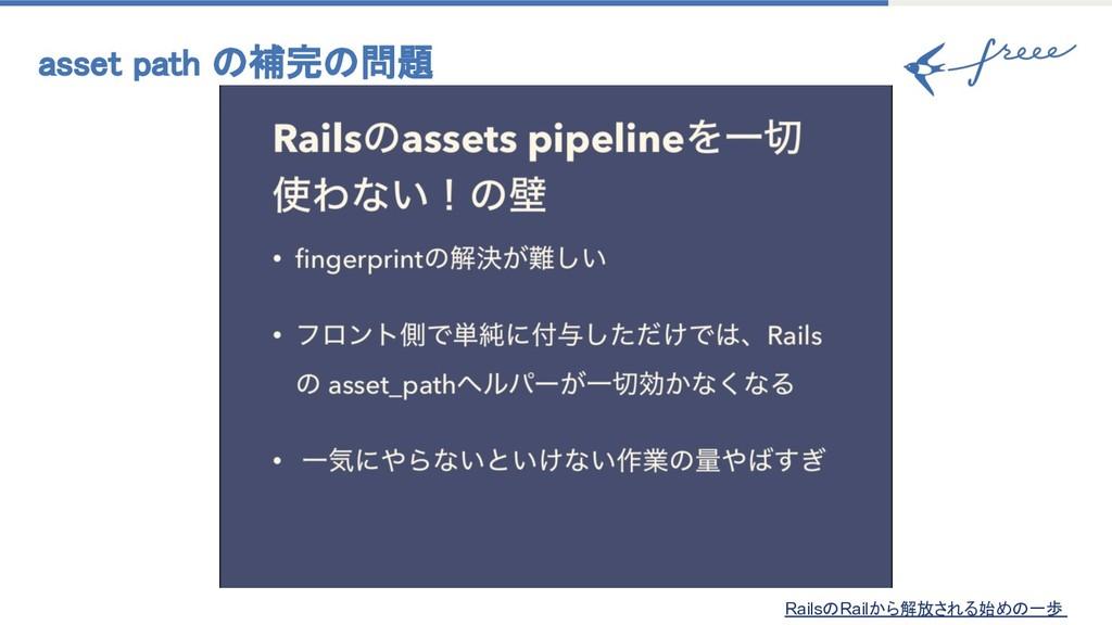 asset path 補完 問題 Rails Railから解放される始め 一歩