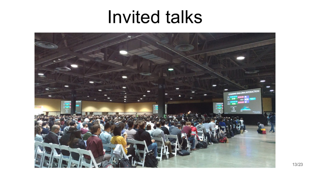 Invited talks 13/23