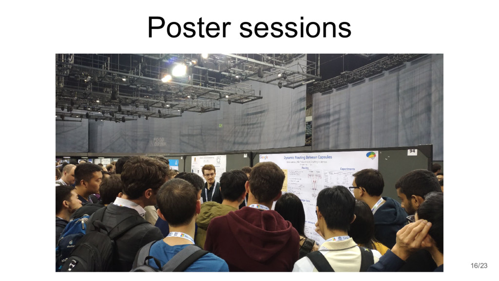 Poster sessions 16/23