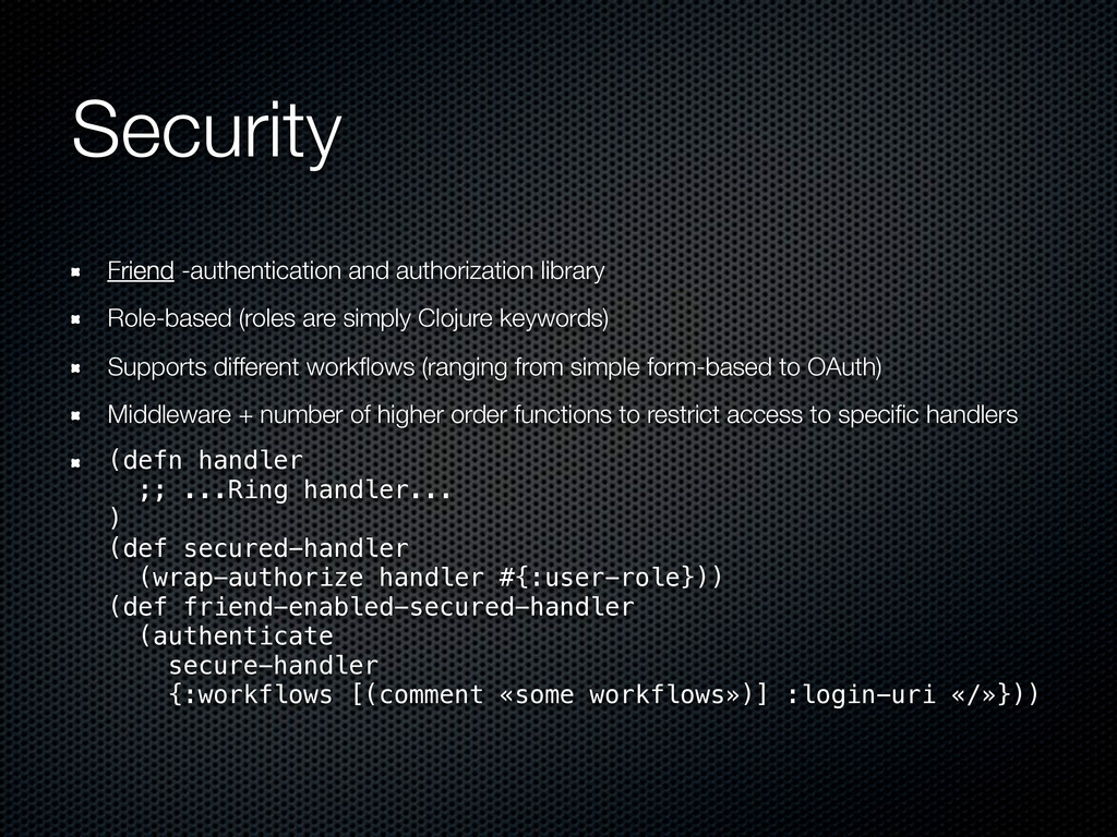 Security Friend -authentication and authorizati...