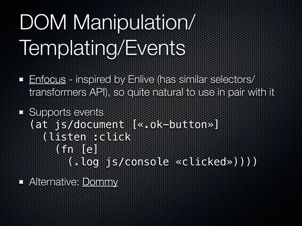 DOM Manipulation/ Templating/Events Enfocus - i...