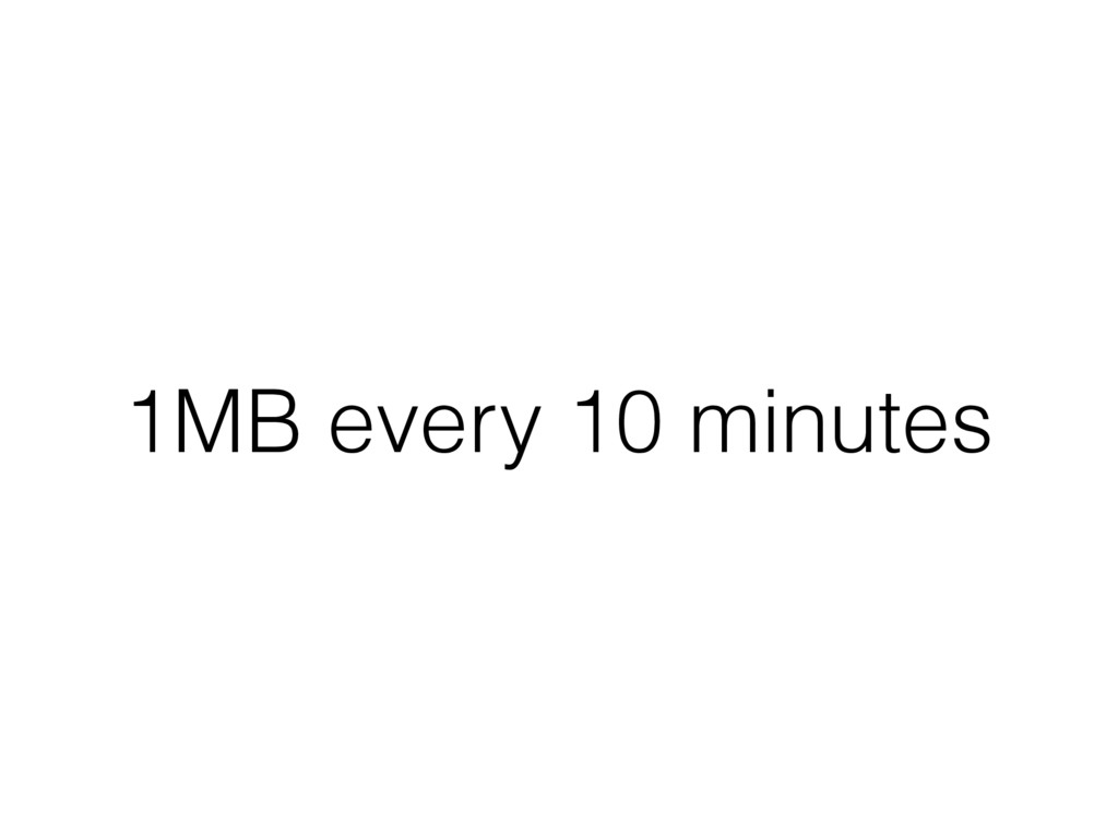 1MB every 10 minutes