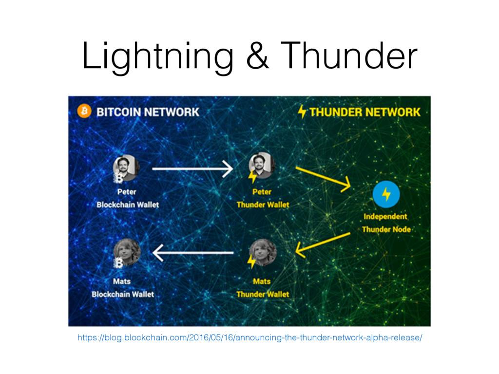 Lightning & Thunder https://blog.blockchain.com...
