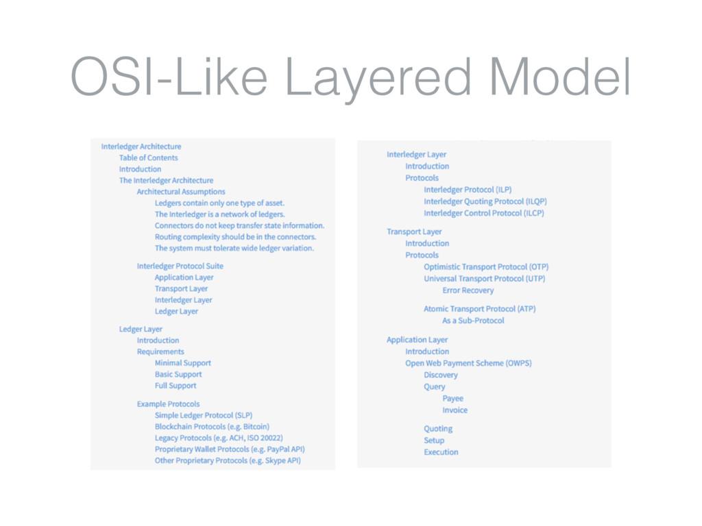 OSI-Like Layered Model