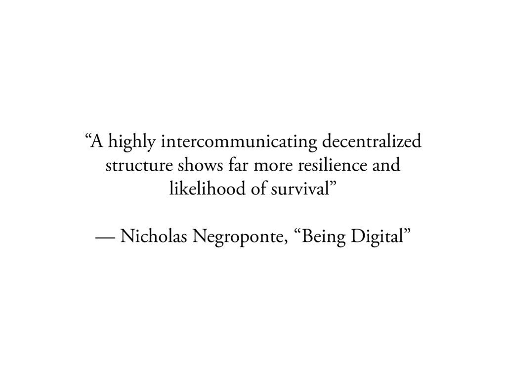 """A highly intercommunicating decentralized stru..."