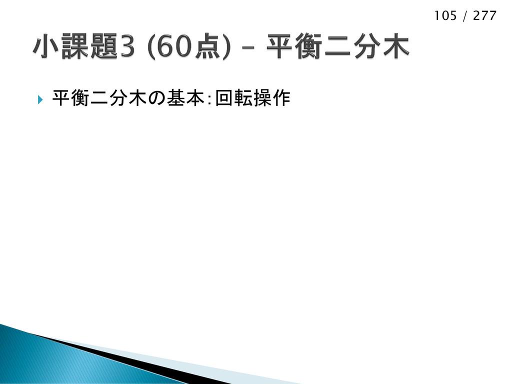 105 / 277  平衡二分木の基本:回転操作