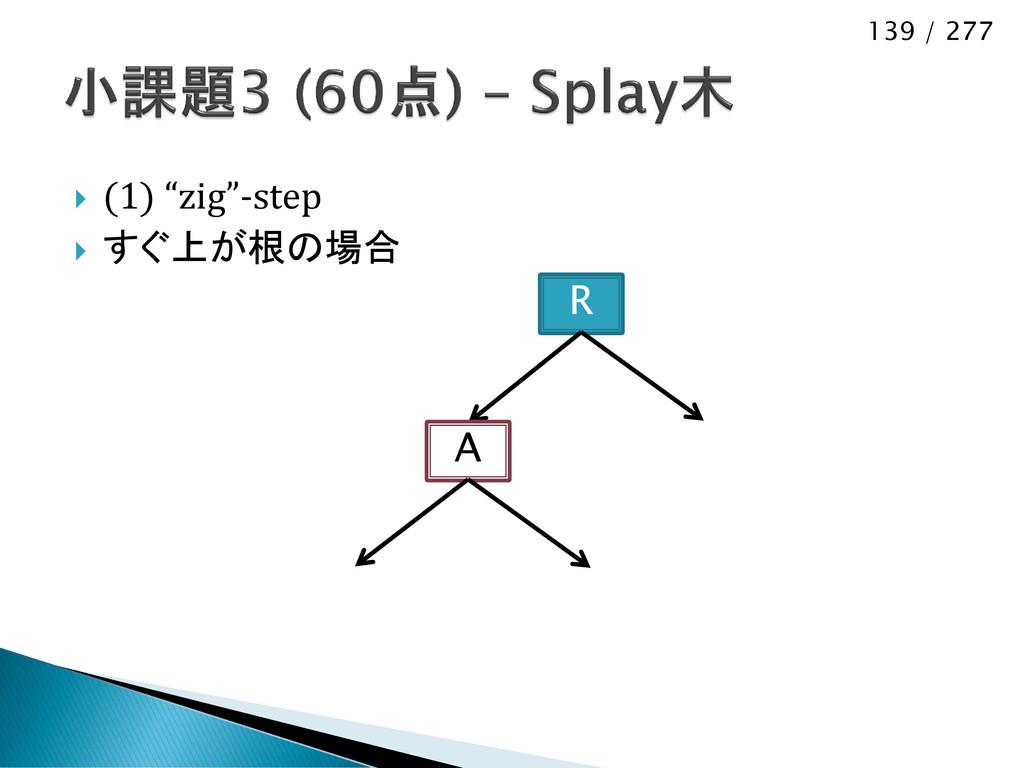 """139 / 277  (1) """"zig""""-step  すぐ上が根の場合 R A"""