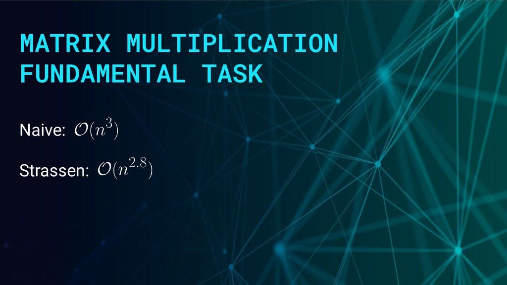 MATRIX MULTIPLICATION FUNDAMENTAL TASK Naive: S...