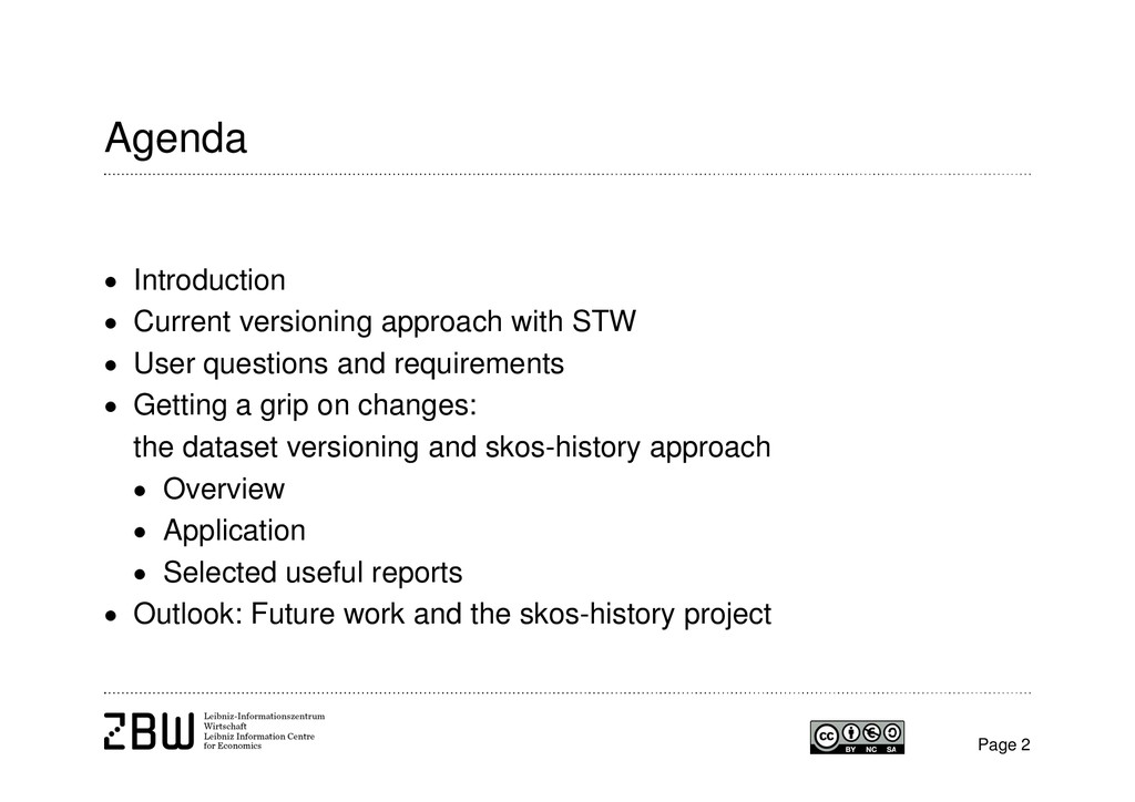 Agenda  Introduction  Current versioning appr...