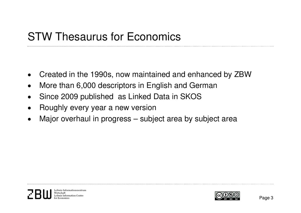 Page 3 STW Thesaurus for Economics  Created in...