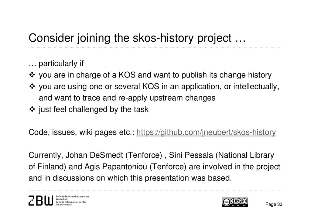 Consider joining the skos-history project … … p...