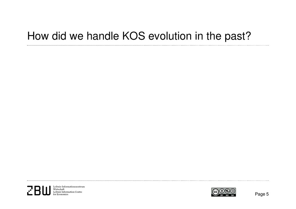 How did we handle KOS evolution in the past? Pa...