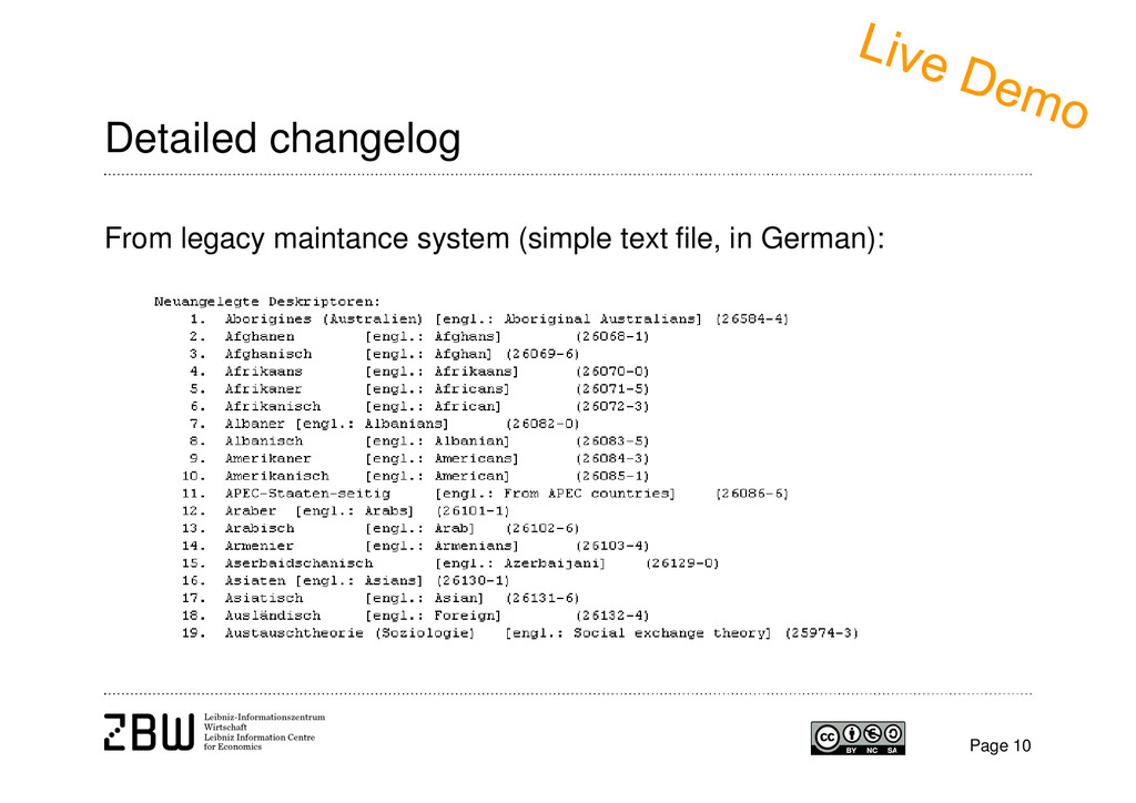 Page 10 Detailed changelog From legacy maintanc...