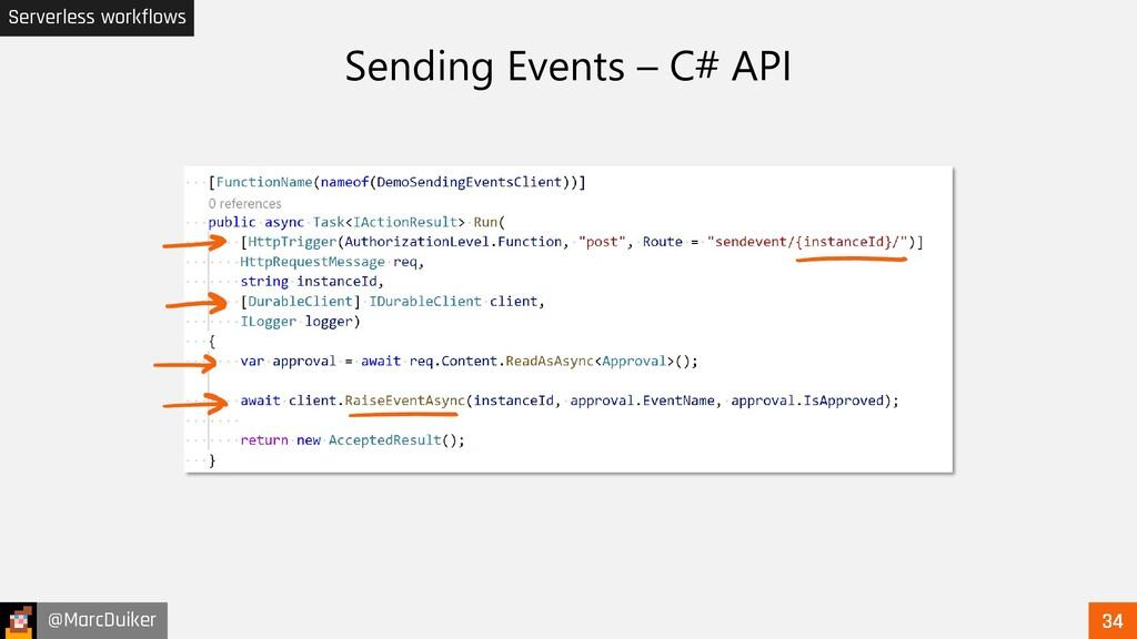@MarcDuiker Serverless workflows Sending Events...