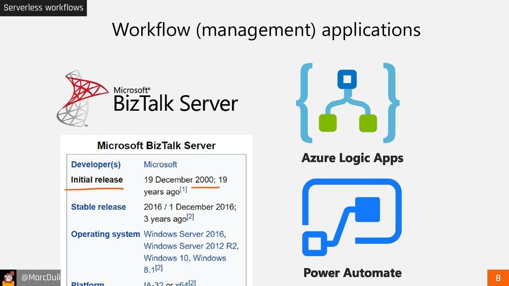 @MarcDuiker Serverless workflows Workflow (mana...