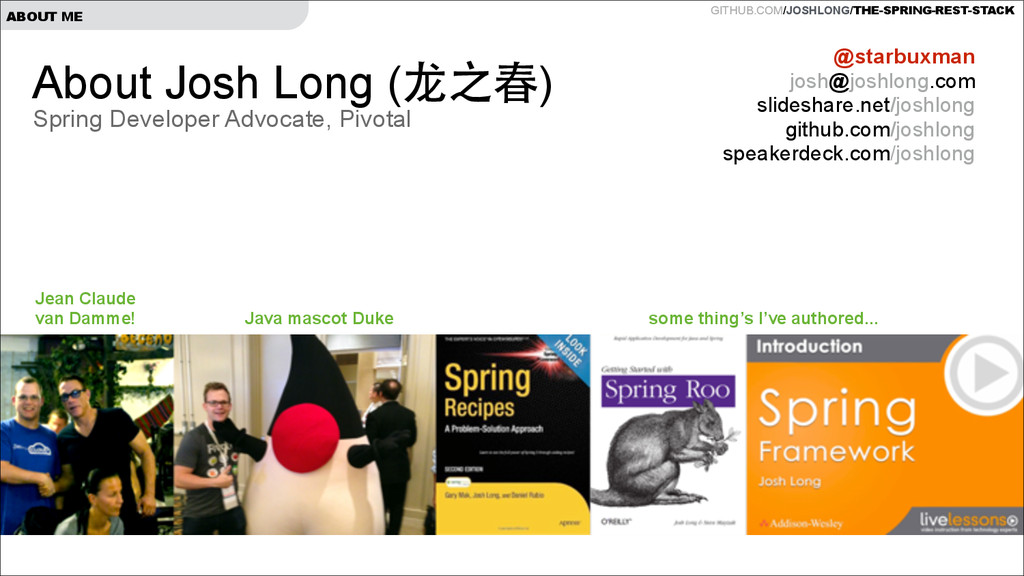 GITHUB.COM/JOSHLONG/THE-SPRING-REST-STACK ABOUT...