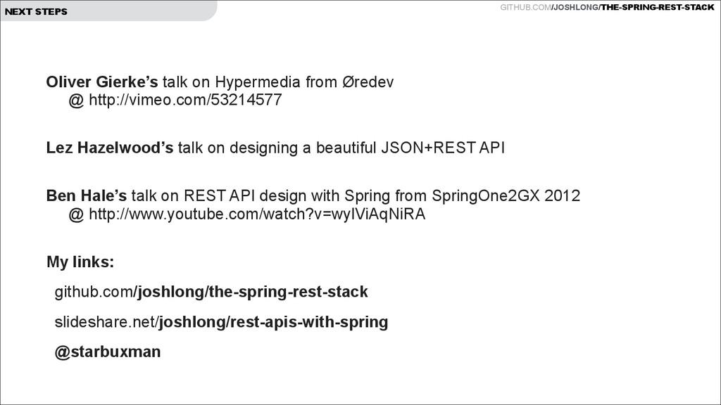 GITHUB.COM/JOSHLONG/THE-SPRING-REST-STACK NEXT ...
