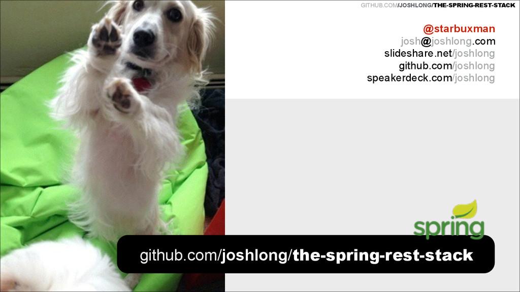 GITHUB.COM/JOSHLONG/THE-SPRING-REST-STACK REST ...