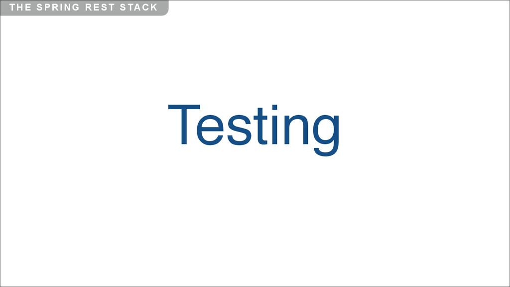 T H E S P R I N G R E S T S TA C K Testing