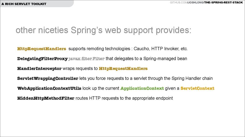 GITHUB.COM/JOSHLONG/THE-SPRING-REST-STACK A RIC...