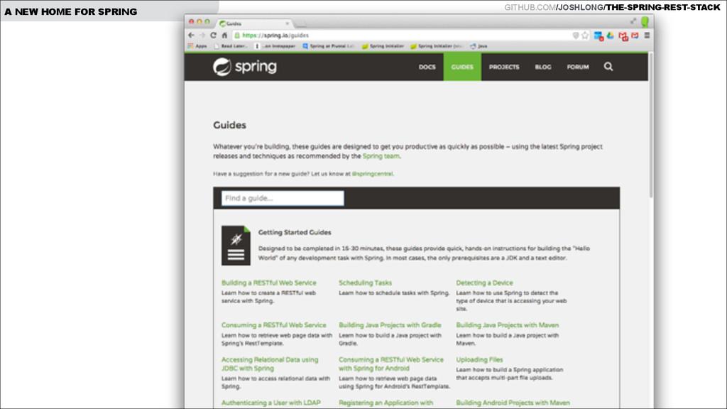 GITHUB.COM/JOSHLONG/THE-SPRING-REST-STACK A NEW...