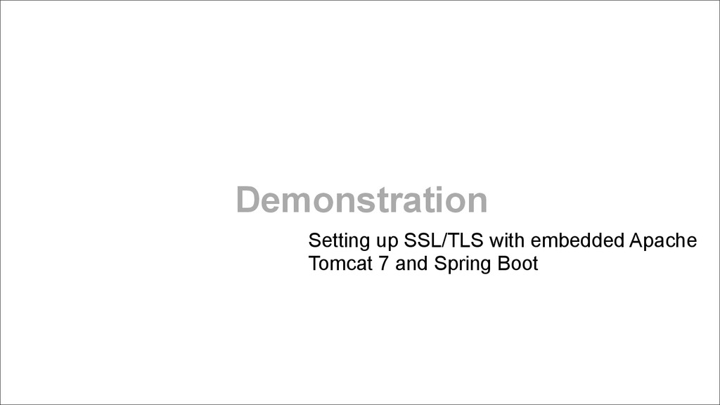 Demonstration Setting up SSL/TLS with embedded ...