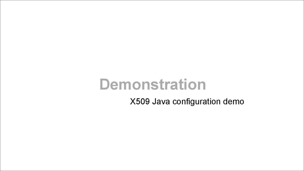 Demonstration X509 Java configuration demo ! !