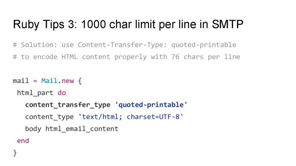 Ruby Tips 3: 1000 char limit per line in SMTP #...