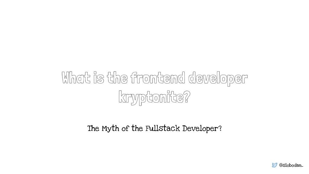 @slobodan_ What is the frontend developer krypt...