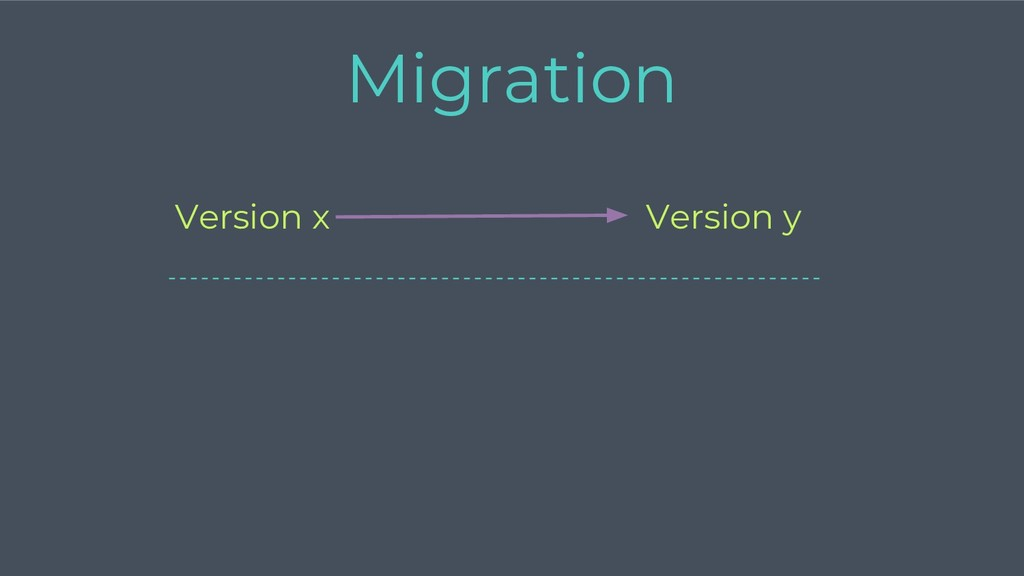 Version y Version x Migration -----------------...