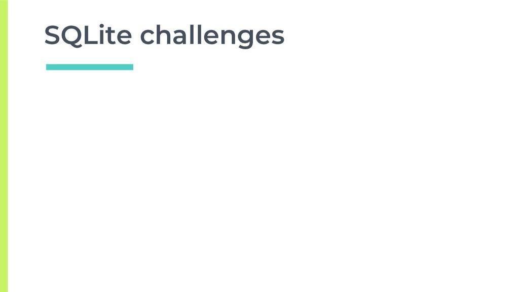 SQLite challenges