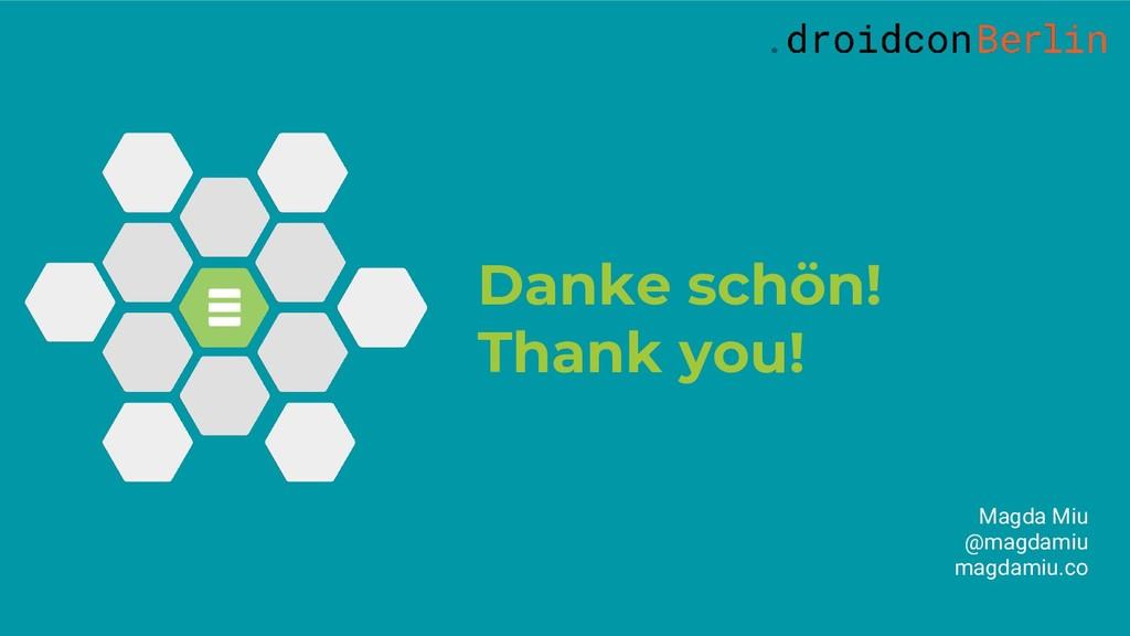 Danke schön! Thank you! Magda Miu @magdamiu mag...