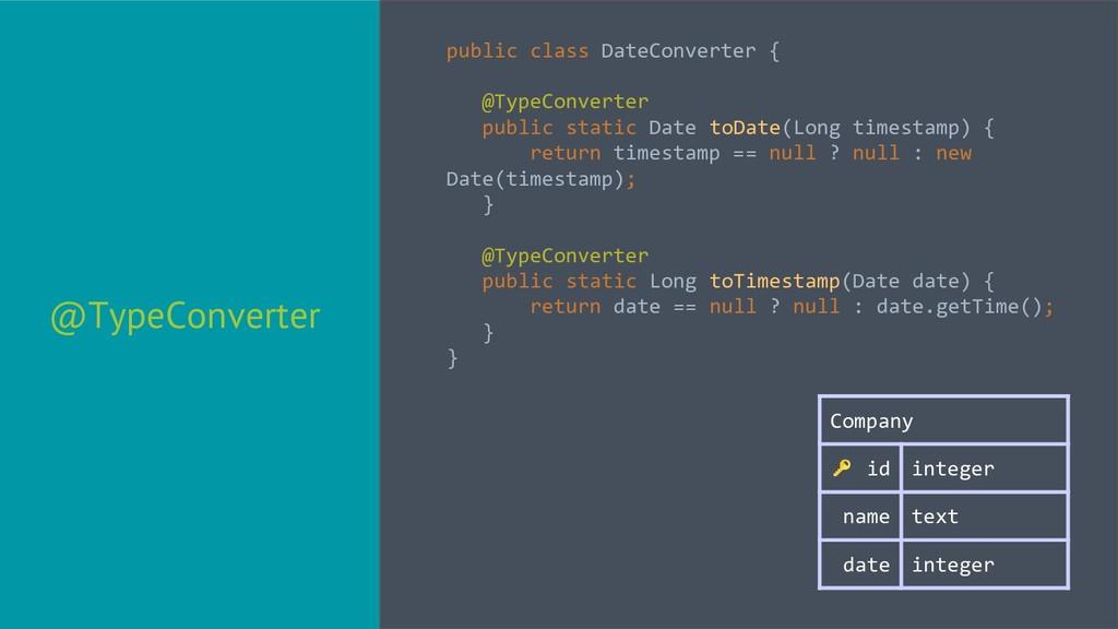 @TypeConverter public class DateConverter { @Ty...