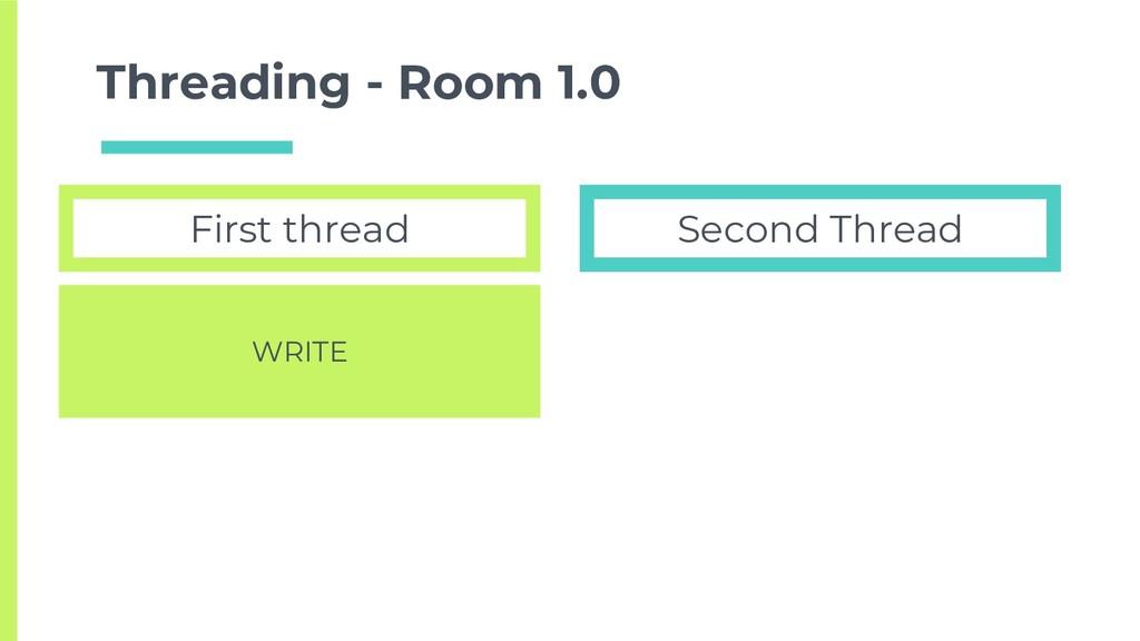 Threading - Room 1.0 First thread Second Thread...