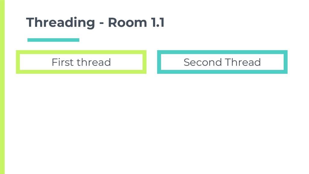 Threading - Room 1.1 First thread Second Thread