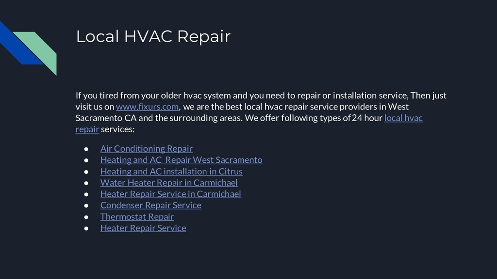 Local HVAC Repair If you tired from your older ...
