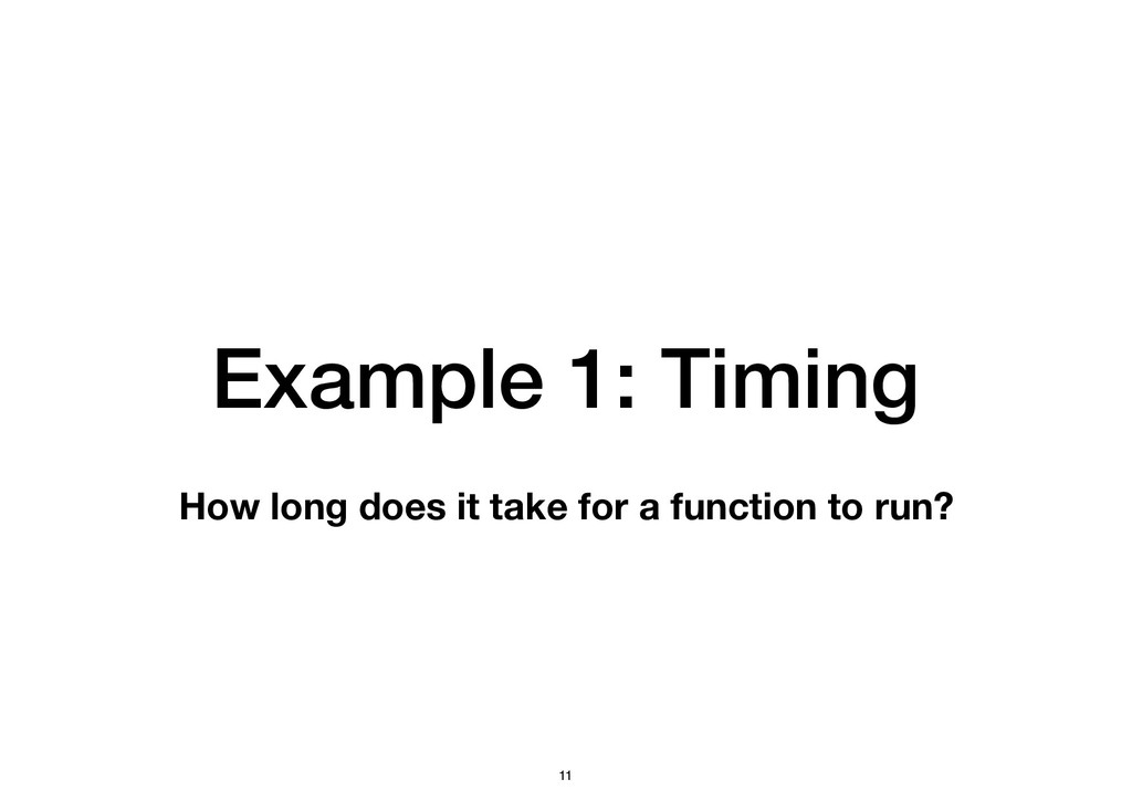 Example 1: Timing How long does it take for a f...